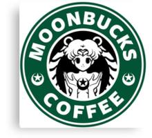 Moonbucks Coffee Canvas Print