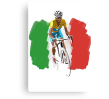Maillot Jaune , Italy Flag Canvas Print