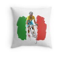 Maillot Jaune , Italy Flag Throw Pillow