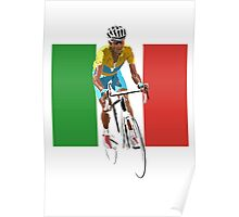 Maillot Jaune, Italy Flag 2 Poster