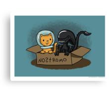 Kitten and Alien Canvas Print
