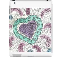 Scattered Heart, squared iPad Case/Skin