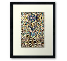 Drawing Floral Zentangle Framed Print