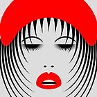 Abstrax No.7 - 1980's Red Chic Chick by Ged J