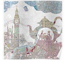 4 o'clock tea London Map Poster