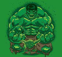 Hulk and Yoda by Ninjae-Art