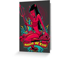 Devil Pin-Up Girl - Touch of evil Greeting Card
