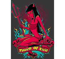 Devil Pin-Up Girl - Touch of evil Photographic Print