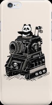 Panda's Skull Tank Vintage Style by RonanLynam