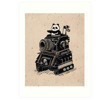 Panda's Skull Tank Vintage Style Art Print