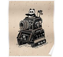 Panda's Skull Tank Vintage Style Poster
