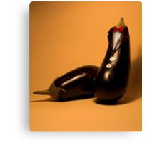 Eggplant in tuxedo Canvas Print