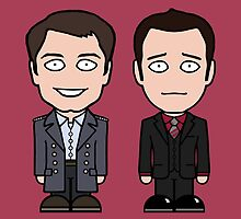 Jack and Ianto (card) by redscharlach