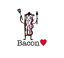 I love bacon Photographic Print