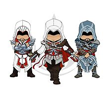 Ezio Auditore da Firenze Chibi Assassin Trio Photographic Print