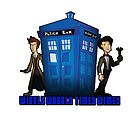 "Doctor Who ""Wibbly Wobbly Timey Wimey"" Tee by Chewitz"