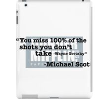 "Wayne Gretzky"" -Michael Scott iPad Case/Skin"