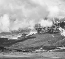 Stormy Mountains Sticker