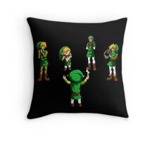 Orchestra of Time Throw Pillow