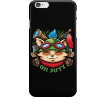 Teemo On Duty iPhone Case/Skin