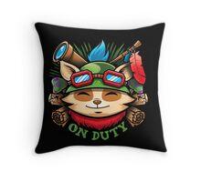 Teemo On Duty Throw Pillow