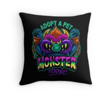 Adopt a Pet Monster Throw Pillow