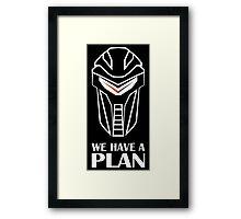 We Have A Plan Cylon BSG Framed Print