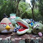 Angry Bird and plush toy pals - childrens art photography by Rick Short