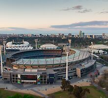 Melbourne Cricket Ground aerial view by Nils Versemann