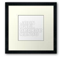 John Paul George Ringo_White Album Framed Print