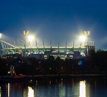 Melbourne Cricket Ground at dusk by Nils Versemann
