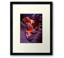 Light in the Slot, Lower Antelope Canyon, Page, Arizona USA Framed Print