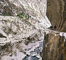 Cliff face trail, Nepal by Kevin McGennan