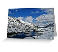 Scheidsee (Verwall Mountains) Greeting Card
