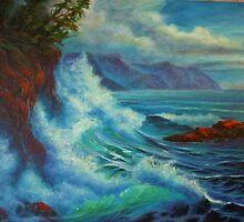 Sea Cliff Surge by jyruff