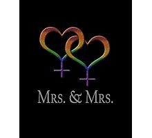 Mrs. and Mrs. Lesbian Pride  Photographic Print