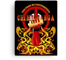 Deadpool and Chimichanga Canvas Print