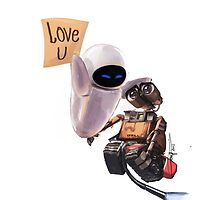 WALL-E & EVE  by Gnyfeur