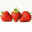 Three Strawberries by Alan Harman