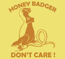 Honey badger don't care !  by NewSignCreation