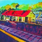 Kilmore East Railway Station VIC Australia by Margaret Morgan (Watkins)