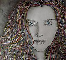 Iridescent Female Portrait by GooeyJ