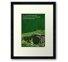 The Fellowship of the Ring inspired design. Framed Print