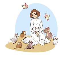 Disney Princess Leia by Steph Hodges