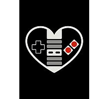 NES Controller Heart Photographic Print