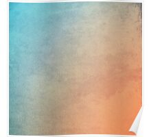 abstract blue and orange painting Poster
