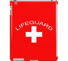 Lifeguard T-Shirt ~ Baywatch Tee ~ Save Me White Cross iPad Case/Skin