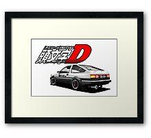 Initial D - AE89 trueno Framed Print