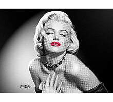 Marilyn Shining -  Black, White & Red Photographic Print