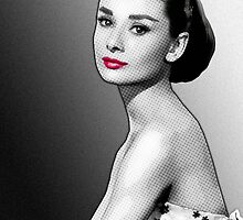 Audrey Hepburn - Portrait in Black & White by Everett Day